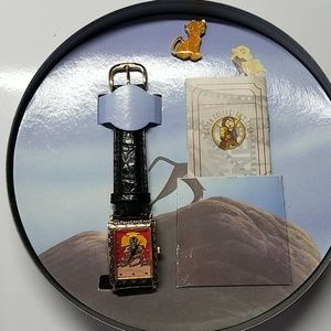 Vintage Disney The Lion King watch and pin